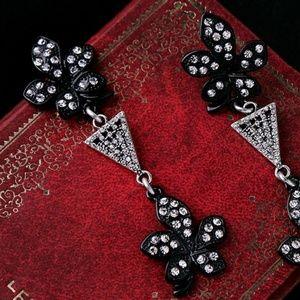 New Crystal Dangle Flowers Earrings